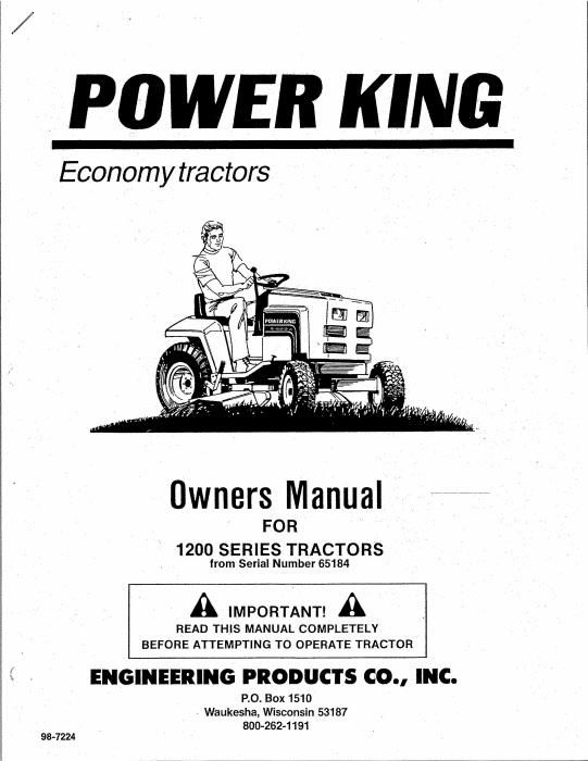 power king manuals Long Tractor Wiring Diagram l 98 7224 000